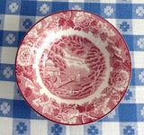 Red Transferware English Scenery Sauce Bowl Jam 1940s Enoch Woods Woods Ware Rural Scene - Antiques And Teacups - 2