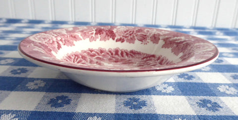 Enoch Woods Wood Ware English Decor Carriage Red Bowl