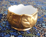 Royal Winton Gold Luster Cream And Sugar With Matching Tray 1950s Leaves - Antiques And Teacups - 5