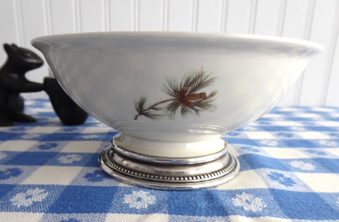 Rosenthal Pine Needles Mayonnaise Sterling Silver Base Pine Cones 1962-1965