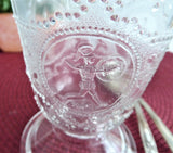 Antique EAPG Spooner Minerva Roman Medallion Clear 1870s Spoon Vase