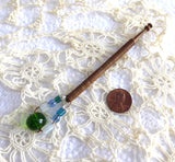 Lace Bobbin Turned Treen Beads Spangles English Mid Victorian 1850-1880s
