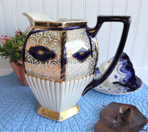 Imari Gaudy English Pitcher Staffordshire Jug Victorian Gaudy Welsh 1870-1890s