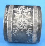 Napkin Ring Meridan Silver Plate Engaved Floral 1880-1890s American