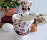 Imari Double Eggcup Pair Fresian Booths England 1880s Hand Colored Transferware