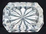 Large Antique Open Salt Master Cut Crystal Victorian Star Bottom Faceted 1880s