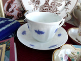 Grandmothers Blue Chelsea Cup And Saucer Adderleys Sprigged Ironstone 1890s