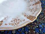 Royal Crown Derby Superb Luncheon Plate Art Nouveau Gold Festoons 1890s Afternoon Tea