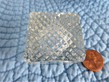 Optic Base Antique Open Salt Faceted Square 1890s Victorian