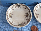 Antique Butter Pat Pair Brown Transferware Ventnor 1890s Boote England