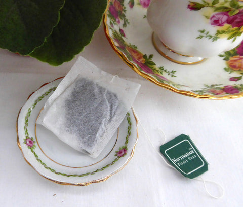 Butter Pat Antique English Rose Border 1890s Teabag Caddy
