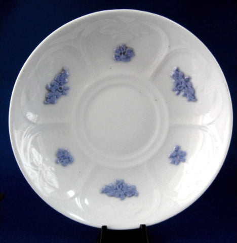Grandmothers Blue Chelsea Saucer Only Adderleys Sprigged Ironstone 1890s