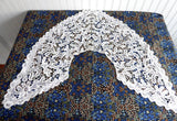 Antique Lace Collar Tape Lace Bobbin Lace Flemish 1900 Hand Made White Lace