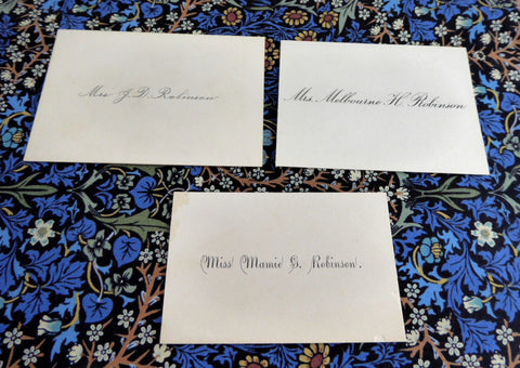 Calling Cards Visiting Cards 3 Gift Cards 1890s Victoriana Antique Ephemera Teatime Decor