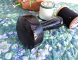 Ebony Edwardian Darning Mushroom Wood Darner Treen England 1900 Sewing