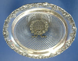Edwardian Basket Silver England Candy Calling Cards Pedestal Round Tea Party