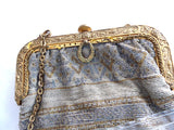Antique Edwardian French Steel Cut Beads 1900 Beaded Purse France Art Deco Bag