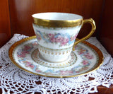 Haviland Limoges Demitasse Cup And Saucer Ornate Floral Gold Roses Antique