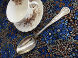 Spoon Edwardian Georgian Kings Pattern Serving Spoon EPNS Shell Large Tablespoon 1900