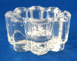 Open Salt Individual Clear 8 Lobed Scalloped Star Bottom US Glass 1900s