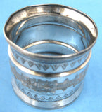 Napkin Ring Aesthetic Movement Silver Plate USA Antique 1880s Victorian