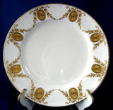 Gorgeous Edwardian Mintons England Cabinet Plate Heavy Gold Medallions As Is