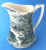 Pitcher Meakin Green Transferware Tintern Jug 1907-1920 As Is TLC 6.5 Inches