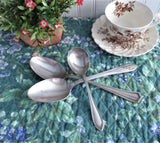 Set of 3 Vintage Silverplate Spoons 1 Sugar 2 Serving Queen Bess Sheraton Regent Shabby