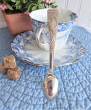 Floral Edwardian English Sugar Tongs Spoon Ends 1910s EPNS Silver Plated