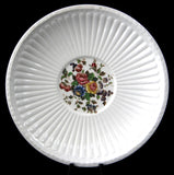 Wedgwood Conway Edme Embossed Floral Saucer Only Creamware Floral Bouquet 1910s