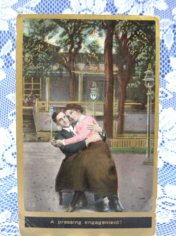Romance Postcard Real Photo Edwardian Antique 1910 Divided Back