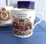 Shelley England 1911 Coronation Mug King George V Queen Mary Lion Back