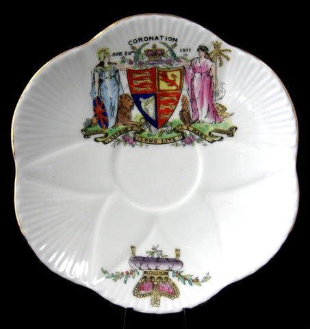 Shelley King George V And Mary Coronation 1911 Saucer Only No Cup