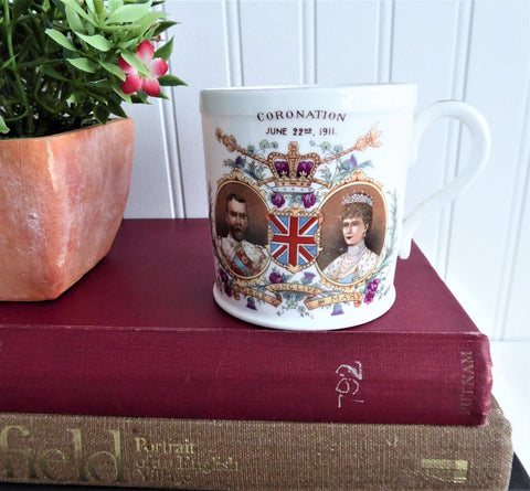 Coronation Mug King George V Queen Mary Shelley England 1911 Mayor Of Morecambe