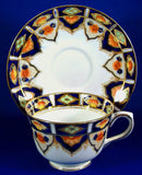 Edwardian Imari Colors Cup And Saucer Heavy Gold 1920s Taylor And Kent England