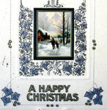 Art Nouveau Postcard Happy Christmas Best Wishes Embossed Snow Lane 1914