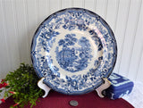 Clarice Cliff Tonquin Blue Transferware Dinner Plate 1930s Ironstone Plate
