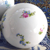 Porcelain Balls 3 Decorative Floral Gold Accents Elegant Decor Accents Bowl Fillers