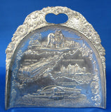 Atlantic City New Jersey Dust Pan Crumber Silver Plate Souvenir 1920s Table Gadget