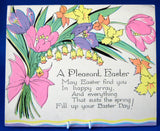 Pair 1920s Easter Greeting Cards Gift Tags A Pleasant Easter Gold Cottage Easter Verses
