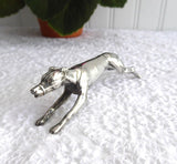 Figural Dog Racing Greyhound Kniferest Silver Plated England 1920s Rare