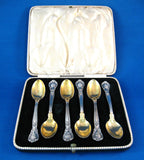 Sterling Silver Spoons Gorham Chantilly  6 Demi Spoons 1930s Mono M or W Boxed