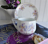 Orchid Cup And Saucer 1910s Rosenthal Lavender Orchids Donatello