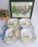 Shelley Cottage 2 Queen Anne Plate Set Of 4 Salad Serving Plates 1930s