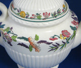 Teapot Wedgwood Edme Shape Wildflowers Antique Etruria 1930s Cream Ware TLC