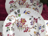 Swallow Wedgwood 4 Salad Plates Polychrome Transferware 1920s Cream Ware