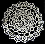 English Lacy Fine Crocheted Lace Doily Vintage Flower Center 1920s Centerpiece