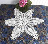 Large Pineapple Doily English Thread Crochet 6 Point Star Hand Made 1920s