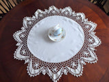 Table Topper Doily Irish Crochet Edging Vintage 8 Inch Lace 1920s Handmade