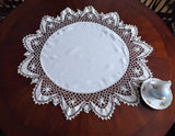 Table Topper Doily Irish Crochet Lace Edging Vintage 8 Inch Lace 1920s Handmade